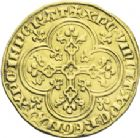 Photo numismatique  ARCHIVES VENTE 2013 -Coll J.R. ROYALES FRANCAISES PHILIPPE V LE LONG (1316-1322)  24- Agnel d'or au croissant (8 décembre 1316).