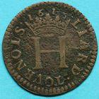 Photo numismatique  MONNAIES BARONNIALES Principauté de SEDAN HENRI de la Tour d'Auvergne (1594-1623) Liard.