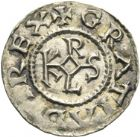Photo numismatique  ARCHIVES VENTE 2013 -Coll J.R. CAROLINGIENS CHARLES LE CHAUVE, roi (840-875)  18- Denier frappé au monastère de Jouarre (Seine-et-Marne) après 864.