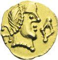 Photo numismatique  ARCHIVES VENTE 2013 -Coll J.R. PEUPLES BARBARES MEROVINGIENS CITES RODEZ (Aveyron) 16- Triens au nom du monétaire Vendemius.