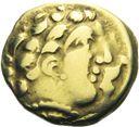 Photo numismatique  ARCHIVES VENTE 2013 -Coll J.R. IBERIE- GAULE - CELTES CENTRE-EST ET EST DE LA GAULE  13- Quart de statère d'or, (2ème siècle avant JC).