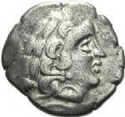 Photo numismatique  ARCHIVES VENTE 2013 -Coll J.R. GAULE - CELTES AULERQUES DIABLINTES (région de la Mayenne)  5- Statère d'argent, (fin du 2e siècle et première moitié du 1er siècle).