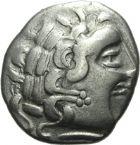 Photo numismatique  ARCHIVES VENTE 2013 -Coll J.R. IBERIE- GAULE - CELTES AULERQUES CENOMANS (région du Mans)  4- Statère d'argent, (fin du 2e siècle et première moitié du 1er siècle).