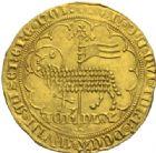 Photo numismatique  MONNAIES BARONNIALES Duché de BRABANT JEANNE et WENCESLAS (1355-1383) Mouton d'or, frappé à Vilvorde.