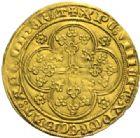 Photo numismatique  MONNAIES BARONNIALES Comté de FLANDRE LOUIS de MÂLE (1346-1384) Nouvelle chaise d'or, frappée à Gand ou Malines, 1370-1372.