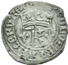Photo numismatique  MONNAIES ROYALES FRANCAISES CHARLES VII (30 octobre 1422-22 juillet 1461)  Petit blanc au K, 1ère émission, Chinon.
