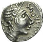 Photo numismatique  MONNAIES IBERIE- GAULE - CELTES ALLOBROGES (région du Dauphiné)  Quinaire de Durnacos.