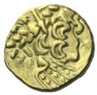 Photo numismatique  MONNAIES IBERIE- GAULE - CELTES AMBIANI (Bassin de la Somme)  Statère d'or biface.