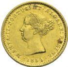 Photo numismatique  MONNAIES MONNAIES DU MONDE PORTUGAL MARIE II (1834-1853) 1 000 reis or, 1951.