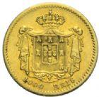 Photo numismatique  MONNAIES MONNAIES DU MONDE PORTUGAL PIERRE V  (1853-1861) 1 000 reis or, 1955.