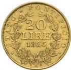 Photo numismatique  MONNAIES MONNAIES DU MONDE ITALIE SAINT-SIEGE, Pie IX (1846-1878) 20 lire, Rome 1866.