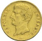 Photo numismatique  MONNAIES MODERNES FRANÇAISES NAPOLEON Ier, empereur (18 mai 1804- 6 avril 1814)  20 francs or, Paris an 12.