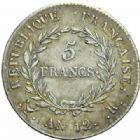 Photo numismatique  MONNAIES MODERNES FRANÇAISES LE CONSULAT (à partir du 24 décembre 1799-18 mai 1804) Bonaparte 1er Consul 5 francs, Bordeaux an 12.