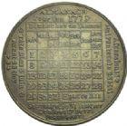 Photo numismatique  MEDAILLES ROYALES FRANCAISES LOUIS XVI (10 mai 1774–21 janvier 1793)  Médaille calendrier, année 1779.