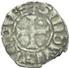 Photo numismatique  MONNAIES BARONNIALES Vicomté de CHÂTEAUDUN SIMON de Dreux (après 1264) Denier.