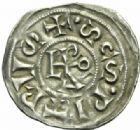 Photo numismatique  MONNAIES CAROLINGIENS LOTHAIRE Ier (840-855) et LEON IV (847-855)  Denier papal, Rome.