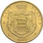Photo numismatique  MONNAIES MONNAIES DU MONDE MONACO CHARLES III (1856-1889) 100 francs or, Paris 1882.