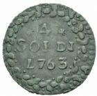 Photo numismatique  MONNAIES BARONNIALES CORSE, Pascal Paoli (1762-1768)  4 soldi, Murato 1(7)763.