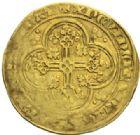 Photo numismatique  MONNAIES ROYALES FRANCAISES JEAN II LE BON (22 août 1350-18 avril 1364)  Ecu d'or à la chaise, 4e émission, 22 septembre 1351.