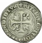 Photo numismatique  MONNAIES ROYALES FRANCAISES CHARLES VII (30 octobre 1422-22 juillet 1461)  Blanc à la couronne, Lyon, 4e ém.
