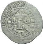 Photo numismatique  MONNAIES BARONNIALES Duché de BAR ROBERT (1354-1411) Blanc aux fleurs de lis.
