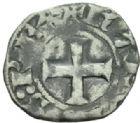 Photo numismatique  MONNAIES BARONNIALES Comté d'EVREUX CHARLES le MAUVAIS. (1343-1378) Denier tournois.
