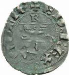 Photo numismatique  MONNAIES BARONNIALES Duché d'AQUITAINE EDOUARD III (1327-1362) Denier du 3e type, Bordeaux (?).