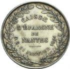 Photo numismatique  JETONS PERIODE MODERNE CAISSES D'EPARGNE NANTES (Loire-Atlantique) Jeton.