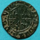 Photo numismatique  MONNAIES BARONNIALES Seigneurie de RUMMEN JEANNE de WESEMEL (1464-1474) Mite.
