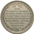 Photo numismatique  MEDAILLES ROYALES FRANCAISES LOUIS XV (1er septembre 1715-10 mai 1774)  Repas servi au roi pour la naissance du dauphin, 7 septembre 1729.