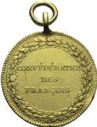 Photo numismatique  MEDAILLES MODERNES FRANÇAISES REVOLUTION FRANCAISE  Médaille dorée de la Confédération des François, le 14 juillet 1790.