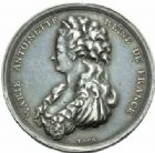 Photo numismatique  JETONS PÉRIODE MODERNE MARIE ANTOINETTE  Jeton de la mort de la reine le 16 octobre 1793.