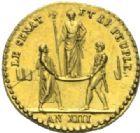 Photo numismatique  MEDAILLES MODERNES FRANÇAISES NAPOLEON Ier, empereur (18 mai 1804- 6 avril 1814)  Médaillette en or du couronnement, 2 décembre (1804).
