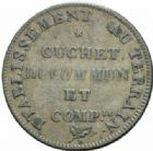 Photo numismatique  JETONS PERIODE MODERNE TRANSPORTS, ENERGIES Paris, distribution d'eau clarifiée, 1807 Cuchet, Duommun et Cie.