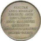 Photo numismatique  MEDAILLES MODERNES FRANÇAISES LOUIS XVIII, 2e restauration (8 juillet 1815-16 septembre 1824)  Restauration de la statue de Louis XV à Reims, 1818.