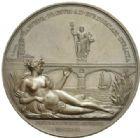 Photo numismatique  MEDAILLES MODERNES FRANÇAISES LOUIS XVIII, 2e restauration (8 juillet 1815-16 septembre 1824)  Pont de la Garonne à Bordeaux, 1821.