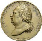 Photo numismatique  MEDAILLES MODERNES FRANÇAISES LOUIS XVIII, 2e restauration (8 juillet 1815-16 septembre 1824)  Rétablissement de la statue de Louis XIV place des Victoires, 1822.