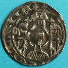 Photo numismatique  MONNAIES MONNAIES DU MONDE ALLEMAGNE COLOGNE, archevêché, Henri Ier von Molenark (1225-1238) Denier du 2e type.