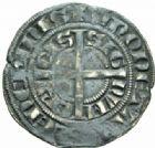 Photo numismatique  MONNAIES BARONNIALES Comté de HAINAUT JEAN II d'Avesnes (1280-1304) Baudekin du 1er type, Valenciennes, vers 1300/1302.
