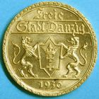 Photo numismatique  MONNAIES MONNAIES DU MONDE ALLEMAGNE DANTZIG, ville libre 25 gulden or de 1930.