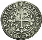 Photo numismatique  MONNAIES BARONNIALES Comté de PROVENCE ROBERT d'ANJOU (1309-1343) Carlin frappé à Naples.