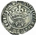 Photo numismatique  MONNAIES BARONNIALES Comté de PROVENCE LOUIS III ou IV (1384-1417-1434) Gros à la couronne ou sol coronat.