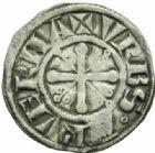 Photo numismatique  MONNAIES BARONNIALES Evêché de CLERMONT (XIIIe siècle) Denier.