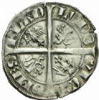 Photo numismatique  MONNAIES BARONNIALES Comté de FLANDRE LOUIS de CRÉCY (1322-1346) Demi gros, Gand.