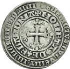 Photo numismatique  MONNAIES BARONNIALES Comté de FLANDRE LOUIS de MÂLE (1346-1384) Double gros botdraeger.