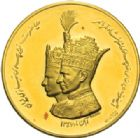 Photo numismatique  MEDAILLES MONNAIES DU MONDE IRAN MOHAMMED REZA PAHLEVI (1942-1979) Médaille d'or, scène du couronnement, 1967.