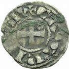 Photo numismatique  MONNAIES BARONNIALES Vicomté de CHÂTEAUDUN GEOFFROI V (1233-1253) Obole.