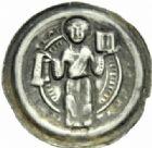 Photo numismatique  MONNAIES MONNAIES DU MONDE ALLEMAGNE HALBERSTADT, Gero von Schermbke (1160-1177) Bractéate.