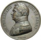 Photo numismatique  MEDAILLES MODERNES FRANÇAISES DUC DE BERRY (1878-1820)  Mort du duc de Berry en 1820.