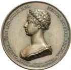 Photo numismatique  MEDAILLES MODERNES FRANÇAISES DUC DE BERRY (1878-1820)  La duchesse de Berry, naissance du duc de Bordeaux.